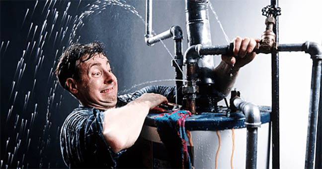 Picture of a Cincinnati based plumber at work